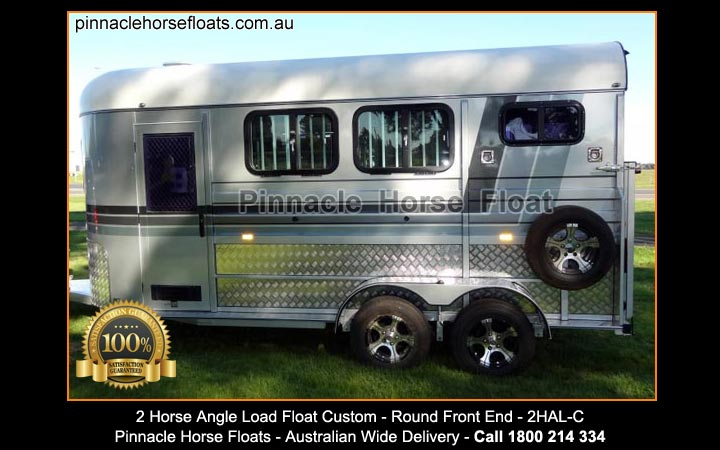 2 Horse Angle Load Float Custom Made 2hal C 2hal